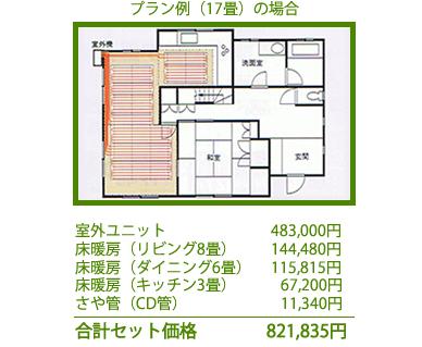ヒートポンプ式温水暖房システムの例